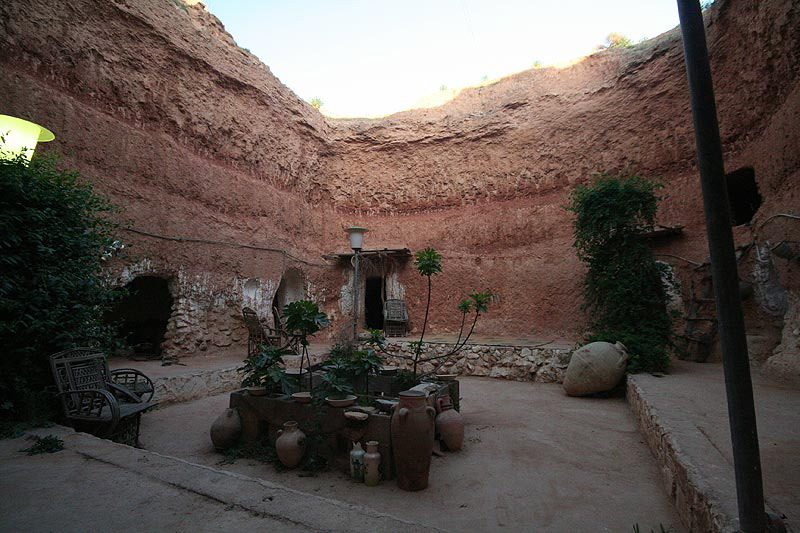 Troglodyte berber house for Architecture troglodyte